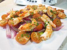 Ensalada de langostinos con Thermomix - La Alacena de MO Shrimp Salad Recipes, Dinner, Kitchen, Food, Pastel, Dining, Cooking, Cake, Food Dinners