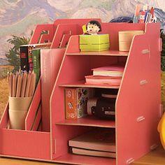 Moda color sólido de madera estante de la mesa - 2 Colores disponibles – USD $ 14.99