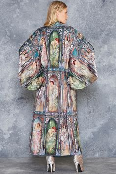 Times Of The Day Swan Kimono - LIMITED ($160AUD) by BlackMilk Clothing