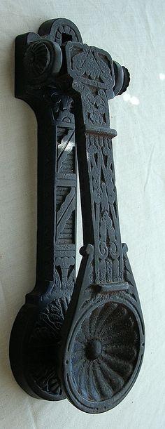 Victorian 'Kenrick' Art Nouveau Cast Steel Door Knocker