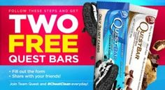 Two Free Quest Nutrition Bars yes I like these! Yummy!