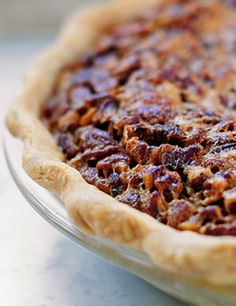 Chocolate Bourbon Pecan Pie.  Seriously?  3 of my favorite things all wrapped up into 1 pie.