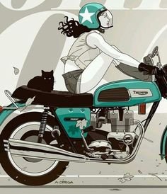 Take a peek at our page for more regarding this dazzling cafe racer style Motorcycle Posters, Cafe Racer Motorcycle, Motorcycle Art, Bike Art, Ducati, Honda Cb750, Cafe Racer Style, Cafe Racer Girl, Triumph Motorcycles