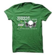 SHEEDY RULE\S Team  - #gift for her #birthday gift. ADD TO CART => https://www.sunfrog.com/Valentines/SHEEDY-RULES-Team--57442150-Guys.html?68278