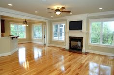 Fun talk about the pros and cons of hardwood flooring in your home! New hardwood flooring options, costs, and choices. Laminate flooring and vinyl flooring. Red Oak Floors, Light Hardwood Floors, Refinishing Hardwood Floors, Timber Flooring, Vinyl Flooring, Flooring Ideas, Floor Refinishing, Laminate Flooring, Maple Floors