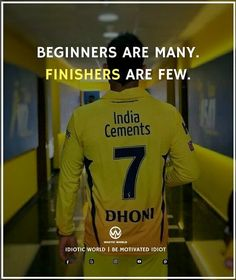 And every finisher can't be like....MAHI