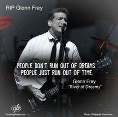 Glenn Frey--never will be forgotten. The era of real music, that is slowly dying.