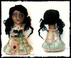 Art Doll Cloth Girl Crown Courage OOAK by Linda Pinda of GlitterNGrungeStudio on Etsy