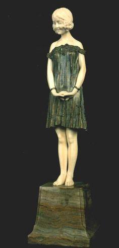 INOCÊNCIA, de DEMETRE CHIPARUS, marfim e bronze