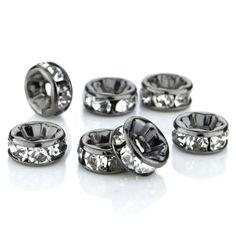 100 Pcs Swarovski Crystal Rondelle Spacer Bead Black Plated 8mm Crystal White (001) by Swarovski, http://www.amazon.com/dp/9628676717/ref=cm_sw_r_pi_dp_yq76qb1J6MMCQ