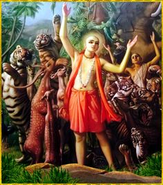 "✨ Shri Krishna Chaitanya Mahaprabhu ✨ ""The religious practice for the Age of Kali is to broadcast the glories of the holy name. Only for this purpose has the Lord, in a yellow color, descended as Lord. Krishna Painting, Krishna Art, Radhe Krishna, Hare Krishna Mantra, Lord Jagannath, Krishna Leela, Radha Krishna Wallpaper, Lord Krishna Images, Hindu Art"