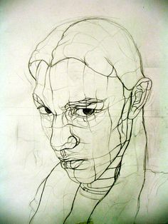 contour drawing of a face