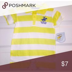 NWT 0-3 Romper Yellow and white stripe NWT Beverly Hills Polo Club Beverly Hills Polo Club One Pieces