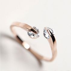 How nice Fashion Peach Heart Rhinestone Opening Ring  ! I like it ! I want to get it ASAP!