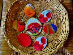Décoration de Pâques - Lot de 7 oeufs carton 2 faces : Autres Scrapbooking par ninita