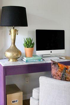EASY diy marble slab desk