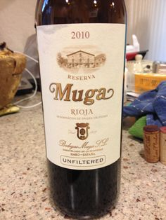 2010 Muga Rioja Reserva, 14% Dark ruby red in color. Dark red fruits, meaty, and vegetal aromas hit the nose. Well integrated. Dry and fruity on the palate with a full body. Excellent integration of alcohol and tannins. Bits of vanilla on the finish. A very enjoyable wine. BP: Buy at 20$ (store).