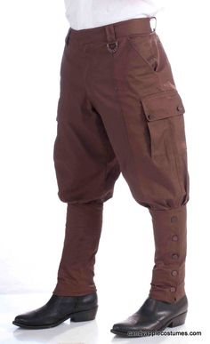 Adult Steampunk Costume Pants - Aviator Costumes - Candy Apple Costumes
