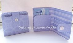 Gift card holder wallet--with different paper this could work for men and boys, too.
