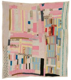 Amelia Bennett - Blocks and strips - c. 1965 - cotton - Quilts of Gee's Bend - x Old Quilts, Antique Quilts, Vintage Quilts, Baby Quilts, Strip Quilts, Quilt Blocks, Gees Bend Quilts, American Quilt, Colorful Quilts