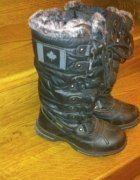 Buty Śniegowce   Cena: 30,00 zł  #czarnezimowe #zimowe37 #uzywanezimowe