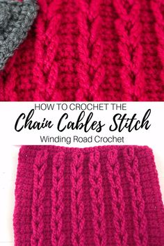 to Crochet: Chain Cables Video Tutorial Learn to crochet chain cables or jacob's ladder stitch with this video and photo tutorial.Learn to crochet chain cables or jacob's ladder stitch with this video and photo tutorial. Crochet Cable Stitch, Knit Crochet, Crochet Beanie, Chrochet, Crochet Dolls, Easy Crochet, Free Crochet, Ladder Stitch, Crochet Stitches Patterns