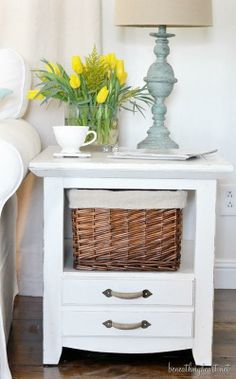 Side Table Makeover With Chalk Finish Paint