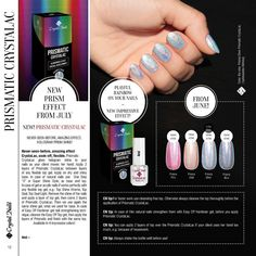 Prismatic CrystaLac  Cosmic colours that shine and play with the light.   Available soon in our web shop.  www.crystalnailscanada.com