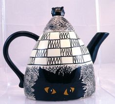 Black Cat Teapot Cats by Nina Teapot Discontinued by FineRedefined, $24.95
