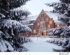 Mason-Abbott decorated for Christmas at Michigan State University, East Lansing, MI