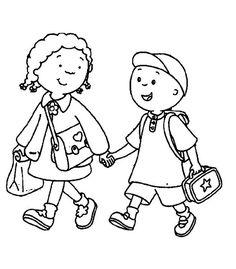 Vriendjes naar school