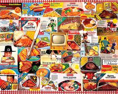 TV Dinners Jigsaw Puzzle, Collage Puzzle-White Mountain Puzzles