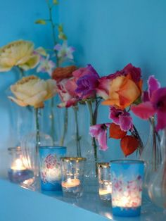 table color inspiration..Romantic Style Styled by Selina Lake - Photography by Debi Treloar (Bed of Flowers)