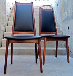 Vintage Danish Dining Chairs Set of 4 Teak Dining Chairs, Dining Chair Set, Dining Room, Mid Century Modern Furniture, Mid Century Modern Design, Eames, Dream Decor, Vintage Design, Beautiful Kitchens