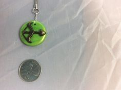 Polymer clay zodiac charm and key ring - the archer sign - pendant - fire sign - keychain - Sagittarius zodiac charm - polymer clay notions by PolymerClayNotions on Etsy
