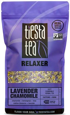 Soft Chamomile Herbal Tea | LAVENDER CHAMOMILE 8 Ounce Bag by TIESTA TEA | Caffeine Free | Loose Leaf Herbal Tea Relaxer Blend | Non-GMO Gourmet Recipes, Snack Recipes, Snacks, Sleep Tea, Lavender Tea, Chamomile Tea, Relaxer, Herbal Tea, Lemon Grass