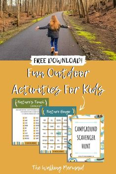 Grab these fun and interactive games and activities for kids that will keep them exploring the outdoors all day long. From scavenger hunts, nature bingo, and even charades, The Walking Mermaid's Resource Library is filled with loads of activities for the whole family. Click here to learn more. #TheWalkingMermaid #FreePrintables #OutdoorGames #ForKids #ForFamilies #Outdoors #Hiking #Camping #TravelFamilies #Homeschooling #RoadSchooling