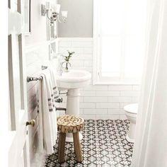 Bathroom envy...or inspiration for the 'weekender' #bathroomenvy #tiles #bathroomideas by romina.carini Bathroom designs.