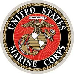 """Adhesive backed decal - U.S. Marine Corps logo. 3 1/4"""" diameter. Officially…"""