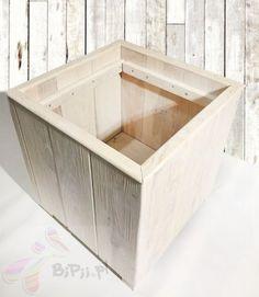 Donica 42x42x32 cm Sosnowa duża Wooden Boxes, Flower Pots, Storage Chest, Furniture, Home Decor, Wood Boxes, Flower Vases, Container Plants, Decoration Home