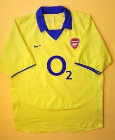 24200bda1 Advertisement(eBay) 4 5 Arsenal jersey XL 2003 2005 away shirt soccer  football