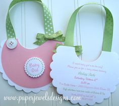 Baby Bib Invitations