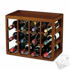Buy the Cube-Stack Wine Bottle & Stemware Rack Set (Walnut Stain) at Wine Enthusiast – we are your ultimate destination for wine storage, wine accessories, gifts and more! Wine Bottle Rack, Wine Glass Rack, Wood Wine Racks, Bottle Holders, Diy Wine Racks, Bottle Labels, Lechon Asado, Wine Rack Design, Italian Wine