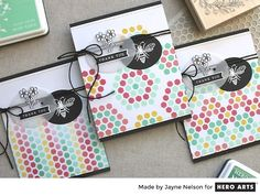 Patterned Backgrounds with the Honeycomb Stencil | The Hero Club Blog | Bloglovin'