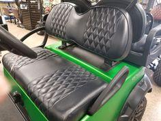 Club Car Precedent Golf Cart Premium™ Diamond Pleated Seat Covers(Black) #KoolCushions Golf Cart Seat Covers, Golf Cart Seats, Golf Carts, Car Seats, Carbon Fiber, Cushions, Club, Diamond, Ebay