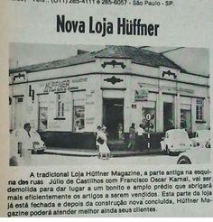 A extinta loja Huffner anos 70 - Lajeado
