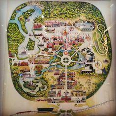 Vintage magic kingdom map