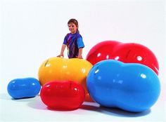 Haven't worked with a kid on autism spectrum who didn't love sitting, laying, or bouncing on big balls. Available in multiple sizes and shapes for sensory needs.