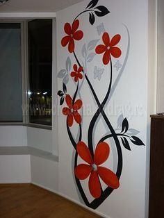 visit our website for the latest home decor trends . Wall Painting Decor, Diy Wall Art, Diy Painting, Painting Walls, Mural Art, Wall Murals, Wall Art Designs, Cool Walls, Frames On Wall