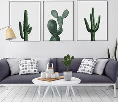 Watercolor succulent Canvas Art Print Painting green plant cactus posters Wall Pictures for Home Decoration Home Decor-in Painting & Calligraphy from Home & Garden on Aliexpress.com | Alibaba Group